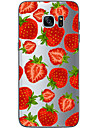 Strawberry  TPU Soft Back Cover Case for  Samsung Galaxy S6  S7 edge Plus