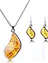 Набор украшений Ожерелье / серьги Сексуальные платья Мода европейский Серебряный Ожерелья Серьги Для Свадьба Для вечеринок Повседневные1
