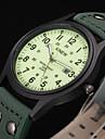 Мужской Спортивные часы Армейские часы Модные часы Наручные часы Календарь Защита от влаги Фосфоресцирующий Кварцевый Кожа ГруппаВинтаж