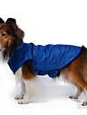 Собаки Плащи Жилет Одежда для собак Зима Весна/осень Однотонный Сохраняет тепло Защита от ветра Желтый Розовый Красный Синий Розовый