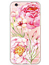 Flower Peony Pattern TPU Ultra-thin Translucent Soft Back Cover for Apple iPhone 6s 6 Plus SE 5s 5