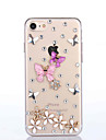 Handmade Rhinestone Butterfly Pattern PC Hard Case for iPhone 7 7 Plus 6s 6 Plus SE 5s 5 4s 4
