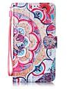 Для Кейс для  Samsung Galaxy Кошелек / Бумажник для карт Кейс для Чехол Кейс для Цветы Твердый Искусственная кожа SamsungA5(2016) /
