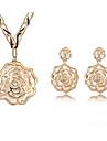 Femme Set de Bijoux Cristal Mode Colliers decoratifs Boucles d\'oreille Pour Quotidien Cadeaux de mariage