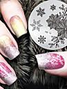 2016 nieuwste versie mode image kerst patroon nail art stempelen template platen