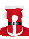 Dog Costume Coat Hoodie Dog Clothes Cute Cosplay Christmas Solid Red