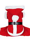 honden kostuums / Jassen / Hoodies Rood Hondenkleding Winter Effen Schattig / Cosplay / Kerstmis