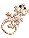 горячий блестящий кристалл форма геккон броши