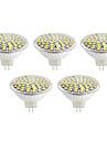 5W GU10 / GX5.3 Spot LED MR16 60led SMD 2835 500lm lm Blanc Chaud / Blanc Froid Decorative V 5 pieces