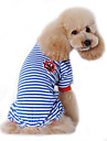 Dog Clothes/Jumpsuit Pajamas Dog Clothes Winter Spring/Fall Sailor Cute Casual/Daily Black Red Blue