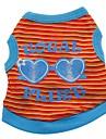 Chat Chien Costume Tee-shirt Gilet Vetements pour Chien Hiver Ete Printemps/Automne RayureMignon Mode Decontracte / Quotidien Sportif