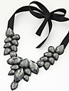 Women European Style Fashion Wild Elegant Gem Collar Short Necklace