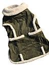 Cat / Dog Coat / Jacket Green Dog Clothes Winter Solid Fashion / Keep Warm