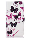 Pour Coque iPhone 7 Coque iPhone 6 Coque iPhone 5 Portefeuille Porte Carte Avec Support Clapet Motif Coque Coque Integrale Coque Papillon