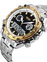 SKMEI® Men\'s Sport Watch / Wrist watch Japanese QuartzLCD / Calendar / Water Resistant/Water Proof / Dual Time Zones / Three Time Zones / Alarm