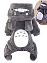 Cat / Dog Costume / Hoodie / Clothes/Jumpsuit Brown / Gray / Rose Dog Clothes Winter / Spring/Fall Cartoon Cute / Cosplay