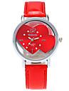 Women\'s Fashion Watch Wrist watch / Quartz PU Band Heart shape Cool Casual Black White Blue Red Pink