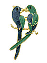 Fashion Enamel Bird Lovers Big Brooches for Women