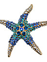 Women\'s Fashion Alloy/Rhinestone Brooches Chic Pin Party/Daily/Casual Starfish Shape Jewelry Accessory 1pc