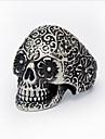 Кольца В форме черепа Halloween Для вечеринок Повседневные Бижутерия Титановая сталь Мужчины Кольцо 1шт,Стандартный размер Серебряный
