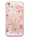 용 크리스탈 / 도금 / 반투명 / 패턴 케이스 뒷면 커버 케이스 카툰 소프트 TPU 용 Apple iPhone 6s Plus/6 Plus / iPhone SE/5s/5