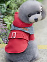 Cat / Dog Coat / Hoodie Red / Blue Dog Clothes Winter / Spring/Fall Color Block Fashion / Keep Warm