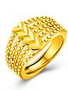 Кольцо Классические кольца Любовь Золотистый 18K золото В форме сердца Золотой Бижутерия Для Свадьба Для вечеринок Повседневные 1шт