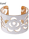 Brand New Arrival Trendy Gold/Silver Hollow Cuff Paster Mental Bangle BL153081 Christmas Gifts