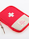 1 PC Travel Bag Travel Pill Box/Case Waterproof Dust Proof Portable for Travel Storage Travel Accessories for Emergency Oxford Cloth-Red