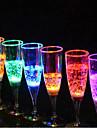Champagne Glass Luminescence Glass 6.8*18CM Random Color