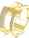 Кольцо Цирконий Позолота Имитация Алмазный Мода Золотой Розовый Бижутерия Свадьба Для вечеринок Halloween Повседневные Спорт 1шт