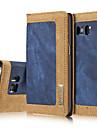 Для Кошелек / Бумажник для карт / со стендом Кейс для Чехол Кейс для Градиент цвета Твердый Натуральная кожа SamsungS7 edge / S7 / S6