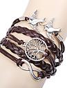 Leather Bracelet Fashion Infinity Bracelet Peace Dove Tree of Life Friendship Bracelet Wrap bracelet jewelry Christmas Gifts