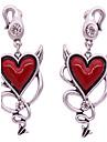 Women\'s Stud Earrings Love Punk Costume Jewelry Alloy Heart Jewelry For Daily
