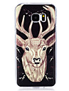 For Samsung Galaxy S7 edge S6 Cover Case Glow in The Dark IMD Pattern Case Back deer Soft TPU for S7 S6 edge S5