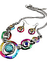 Jewelry 1 Necklace 1 Pair of Earrings Wedding Party Daily Casual 1set Women Multi Color Wedding Gifts