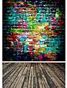 무지개 색 배경 사진 스튜디오 사진 배경막 5x7ft
