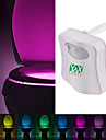 YWXLight® 8 Colors Motion Activated Toilet Night light Fit Any Toilet-Water-resistant Bathroom Night Light Easy Clean -For Midnight Convenience