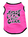Dog Vest Dog Clothes Summer British Cute Casual/Daily Rose