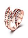 Кольцо Цирконий Нержавеющая сталь Мода Розовый Бижутерия Повседневные 1шт