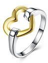Кольца Без камня Свадьба Повседневные Бижутерия Серебрянное покрытие Женский Кольцо 1шт,6 7 8 10 Серебряный