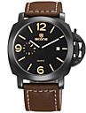 Men\'s Fashion Watch Quartz Calendar Water Resistant / Water Proof Leather Band Black Brown