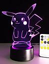 candeeiro de mesa dos desenhos animados com efeito 3D conduziu a luz da noite do feriado luz luz diversao para o presente do bebe e data