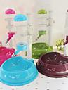 Cat Dog Bowls & Water Bottles Pet Bowls & Feeding Waterproof Green Blue Brown Rose Plastic