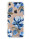 Para iPhone X iPhone 8 iPhone 7 iPhone 7 Plus iPhone 6 Case Tampa Ultra-Fina Estampada Capa Traseira Capinha Flor Macia PUT para Apple