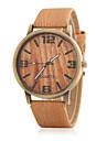 여성용 패션 시계 시계 나무 석영 나무 밴드 캐쥬얼 블랙 브라운