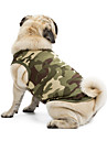 Cat Dog Shirt / T-Shirt Sweatshirt Orange Blue Black Pink Camouflage Color Dog Clothes Summer Spring/Fall