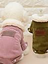 고양이 개 코트 강아지 의류 겨울 모든계절/가을 솔리드 패션 캐쥬얼/데일리 커피 핑크