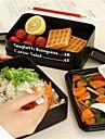 1шт СВЧ-ланч бокс трехслойной прямоугольник коробка для завтрака контейнера экологичный Закуска бенто контейнер для пищевых наборов