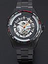 남성용 스포츠 시계 드레스 시계 스켈레톤 시계 패션 시계 손목 시계 기계식 시계 오토메틱 셀프-윈딩 합금 밴드 참 캐쥬얼 멀티컬러